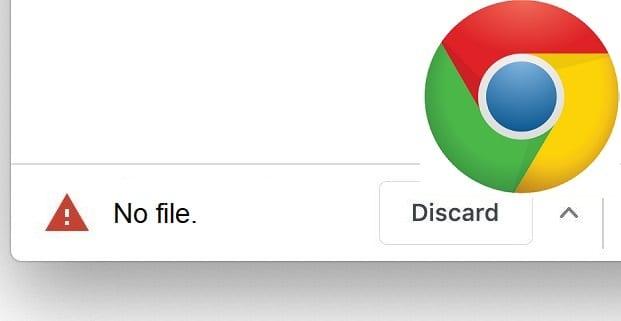 Google Chrome:ダウンロードファイルがありません