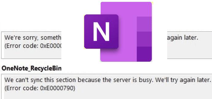 サーバーがビジーであるため、OneNoteを同期できません