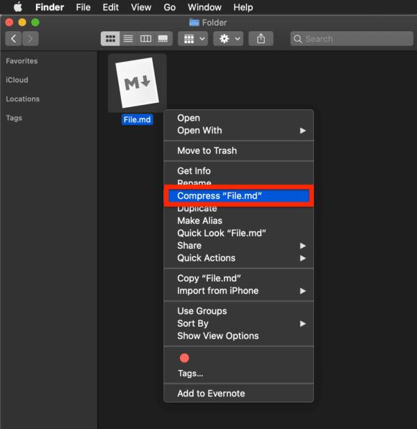 macOS:ファイルを圧縮/解凍する方法
