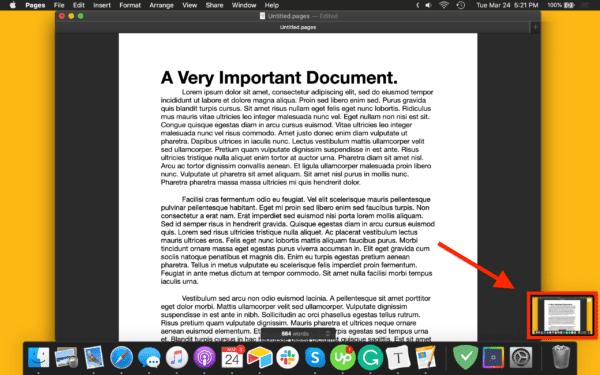 macOSでスクリーンショットを撮る方法