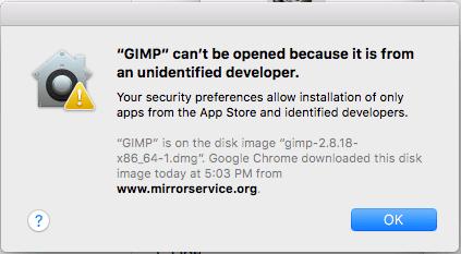 MacOS:「{appname}は身元不明の開発者からのものであるため開くことができません」を無効にします