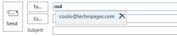 Outlook2019 / 365で記憶されているメールアドレスをクリアする