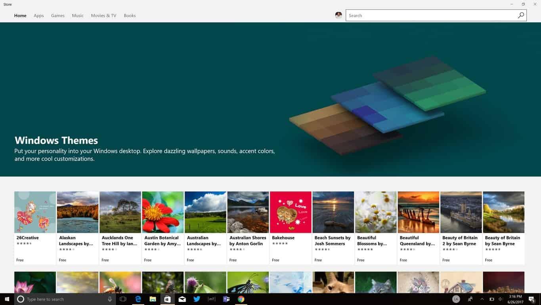 WindowsストアからWindows10にテーマをインストールする方法