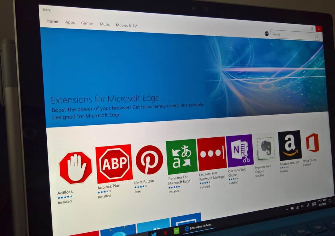 Microsoft Edge용 확장을 설치하고 관리하는 방법