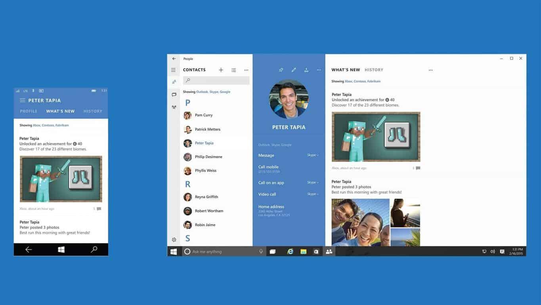 OutlookからWindows10のPeopleアプリに連絡先をインポートする